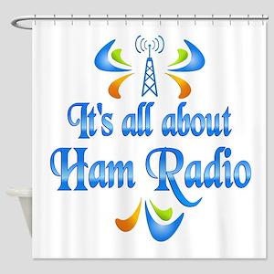 About Ham Radio Shower Curtain
