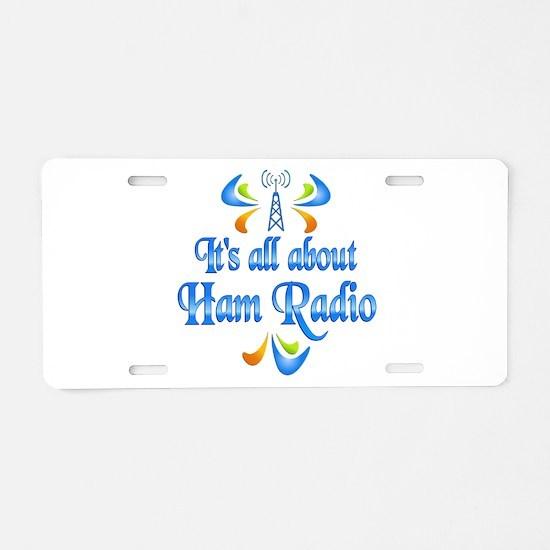About Ham Radio Aluminum License Plate