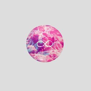 Girly Infinity Symbol Bright Pink Clou Mini Button
