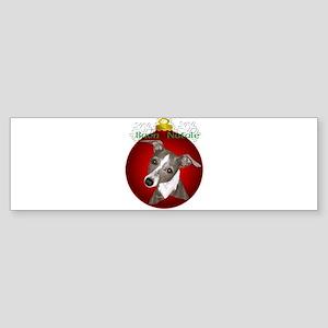 Italian Greyhound Buon Natale Sticker (Bumper)