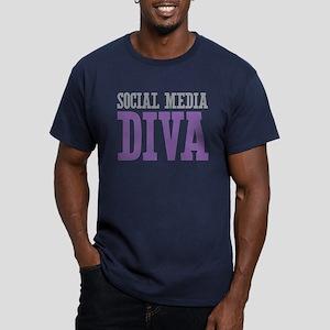 Social Media Men's Fitted T-Shirt (dark)