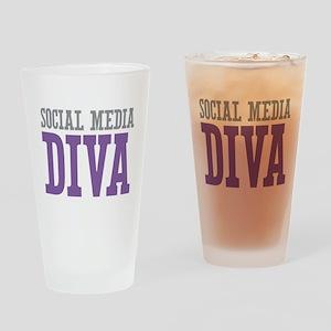 Social Media Drinking Glass