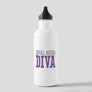 Social Media Stainless Water Bottle 1.0L