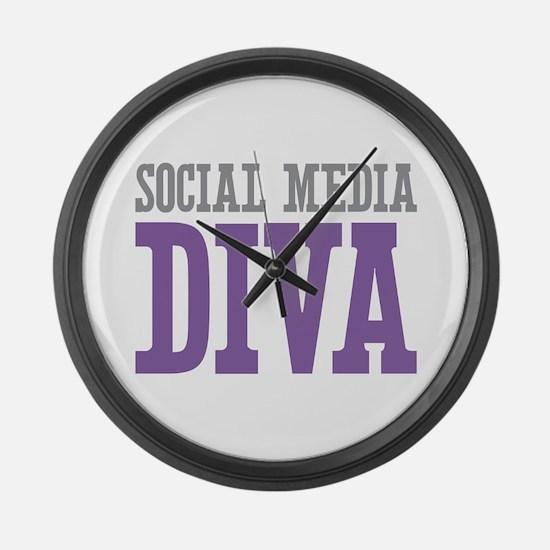 Social Media Large Wall Clock