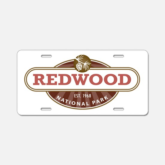 Redwood National Park Aluminum License Plate