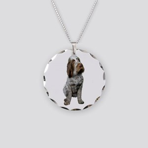 Italian Spinone (Roan) Necklace Circle Charm