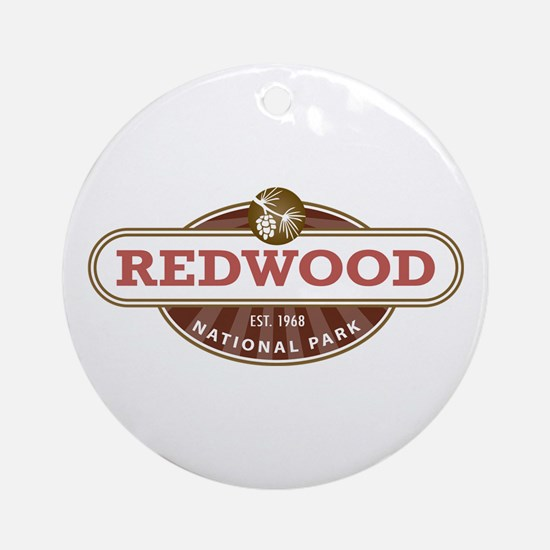 Redwood National Park Ornament (Round)