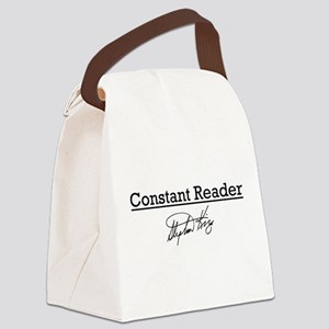 Constant Reader Canvas Lunch Bag