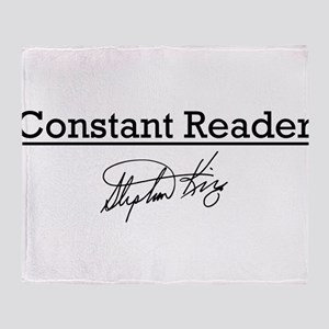 Constant Reader Throw Blanket