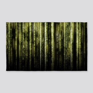 Digital Rain - Yellow 3'x5' Area Rug