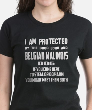 I am protected by the good lo Women's Dark T-Shirt