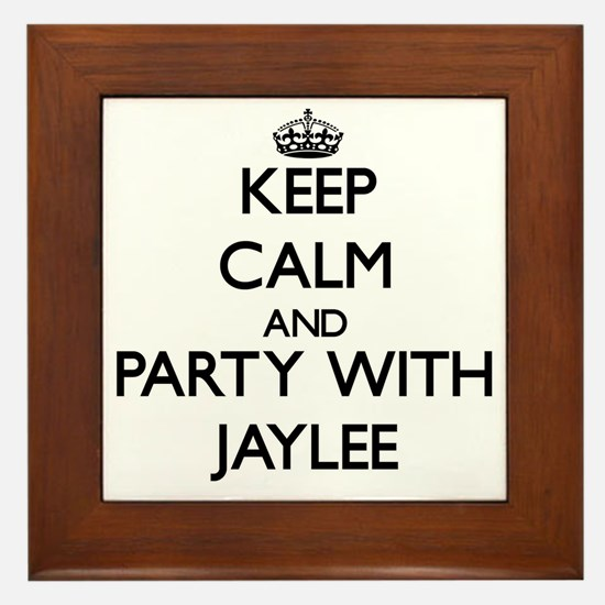 Keep Calm and Party with Jaylee Framed Tile