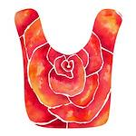 Red-Orange Rose Bib