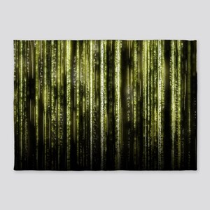 Digital Rain - Yellow 5'x7'Area Rug