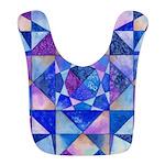 Blue Quilt Watercolor Bib