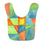 Color Square Abstract One Bib