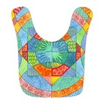 Sacred Geometry Watercolor Bib