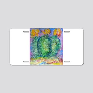 Cactus, southwest desert art, Aluminum License Pla
