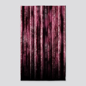 Digital Rain - Red 3'x5' Area Rug