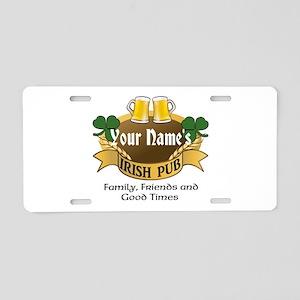 Personalized Name Irish Pub Aluminum License Plate