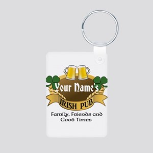 Personalized Name Irish Pub Keychains