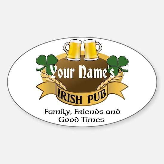 Personalized Name Irish Pub Decal