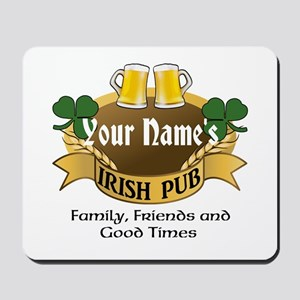 Personalized Name Irish Pub Mousepad