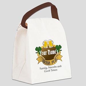 Personalized Name Irish Pub Canvas Lunch Bag