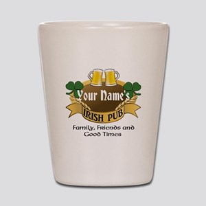 Personalized Name Irish Pub Shot Glass