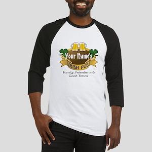 Personalized Name Irish Pub Baseball Jersey