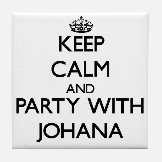 Keep Calm and Party with Johana Tile Coaster