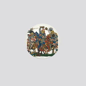 Medieval Knights in Combat Mini Button