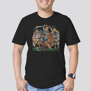 Medieval Knights in Co Men's Fitted T-Shirt (dark)