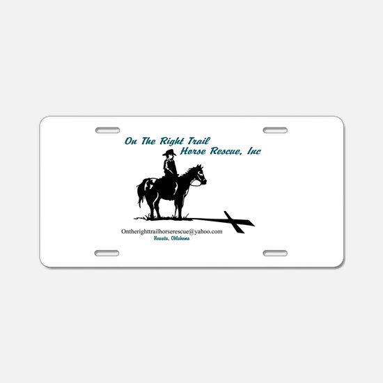 On the Trail Horse Rescue Aluminum License Plate