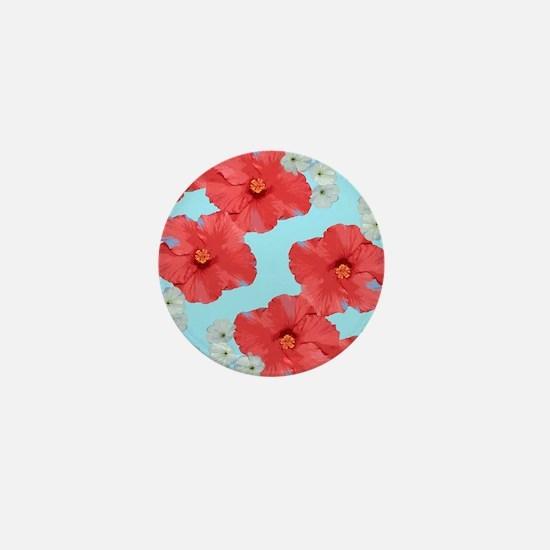 Hibiscus cherry blossom 2 Mini Button