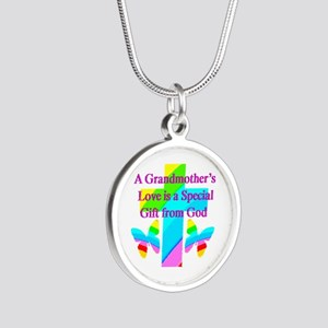 DARLING GRANDMA Silver Round Necklace