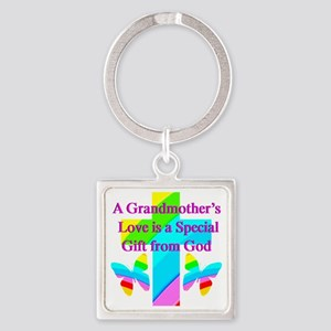 DARLING GRANDMA Square Keychain