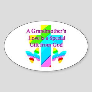 DARLING GRANDMA Sticker (Oval)