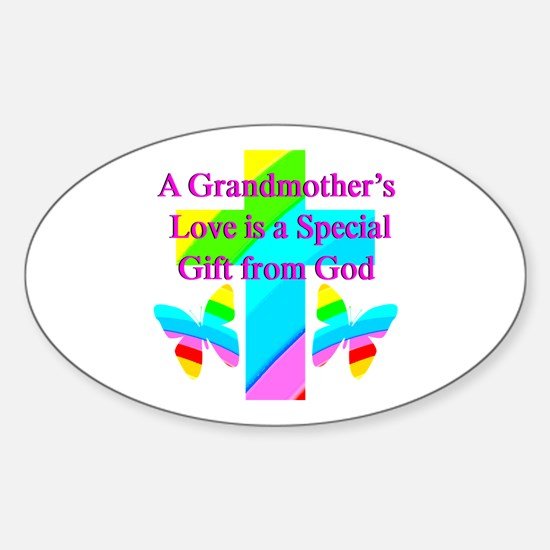 DARLING GRANDMA Sticker (Oval)