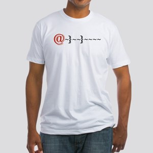 Modern Romance (red) Fitted T-Shirt