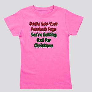 Santa Saw Your Facebook Page Getting Co Girl's Tee