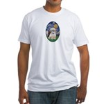 Starry Night Shih Tzu (P) Fitted T-Shirt