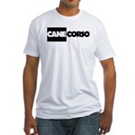 Cane Corso B&W Fitted T-Shirt