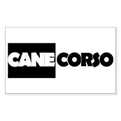 Cane Corso B&W Sticker (Rectangle)