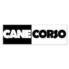 Cane Corso B&W Sticker (Bumper)