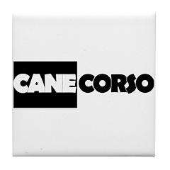 Cane Corso B&W Tile Coaster