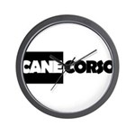 Cane Corso B&W Wall Clock