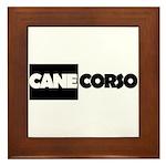 Cane Corso B&W Framed Tile