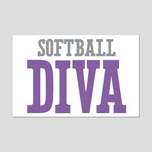 Softball DIVA Mini Poster Print