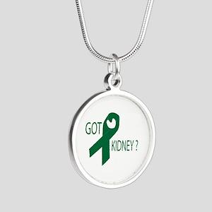 Got Kidney Silver Round Necklace